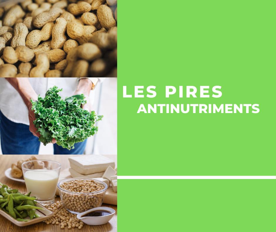 Les 4 PIRES antinutriments/toxines à éviter